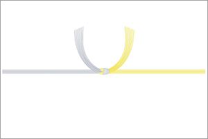 黄水引の掛け紙(結び切り)